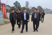 河南省安阳市龙安区领导一行莅临夏溪花木市场调研