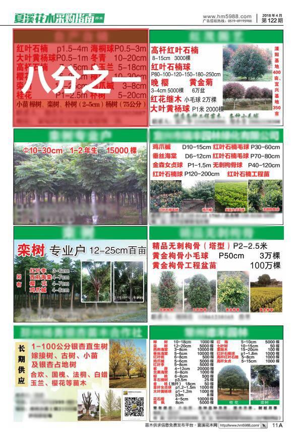 夏溪花木采购指南1/8版广告